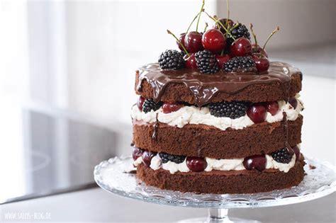 sallys rezepte naked cake schokoladentorte mit