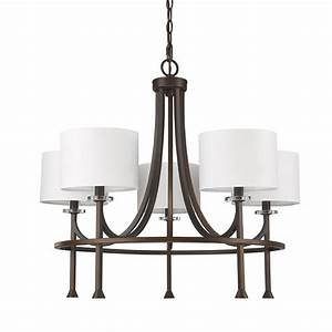 Acclaim lighting kara light indoor chandelier with shades and crystal bobeches in oil rubbed