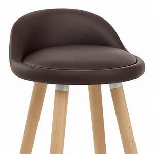 Tabouret De Bar Cuir : chaise de bar bois faux cuir jive monde du tabouret ~ Teatrodelosmanantiales.com Idées de Décoration