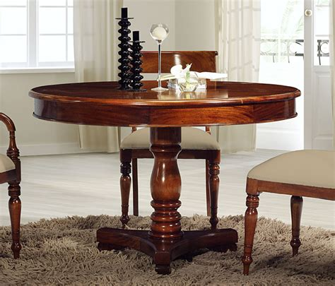 mesa de comedor madera redonda clasica murandi en