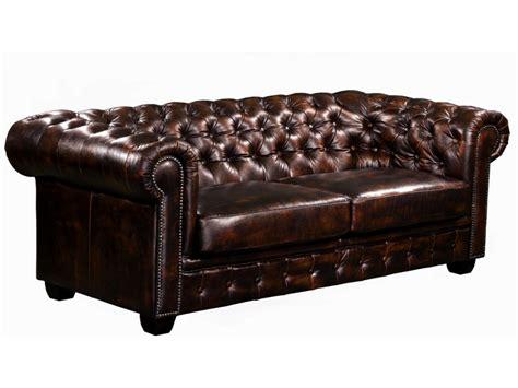 canapé cuir de buffle canapé et fauteuil chesterfield 100 cuir de buffle brenton