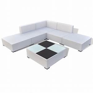 Polyrattan Lounge Set : vidaxl 15 piece garden lounge set white poly rattan ~ Whattoseeinmadrid.com Haus und Dekorationen