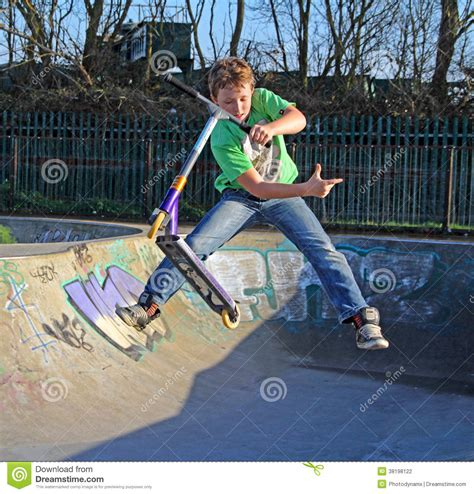 Skate Park Scooter Boy Editorial Photography - Image: 38198122