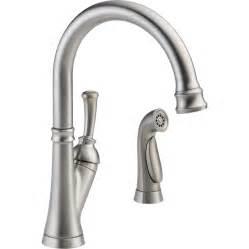 delta savile stainless 1 handle pull kitchen faucet shop delta savile stainless 1 handle deck mount high arc