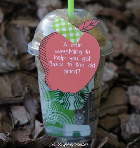 Back to School Teacher Gift   Coffee Cups and Crayons