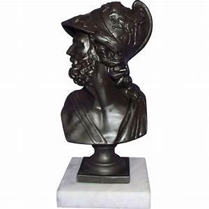 Greek Mythological Warrior AJAX Bust Circa 1890 made by ...