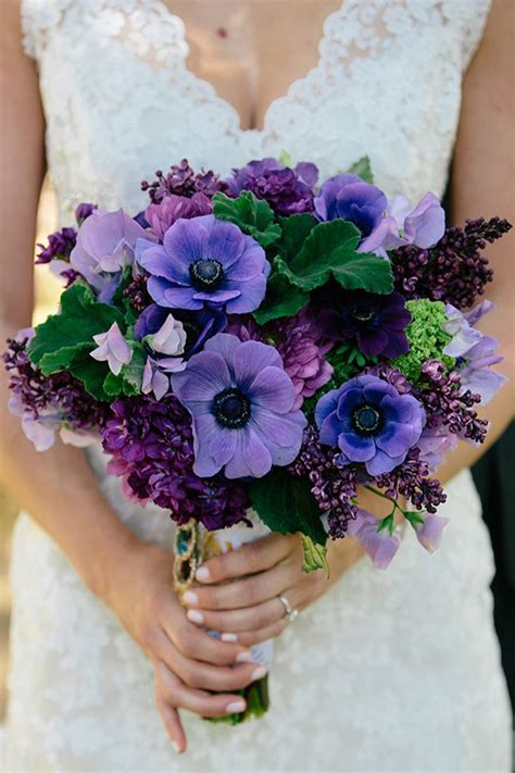 wedding wednesday purple bouquets flirty fleurs