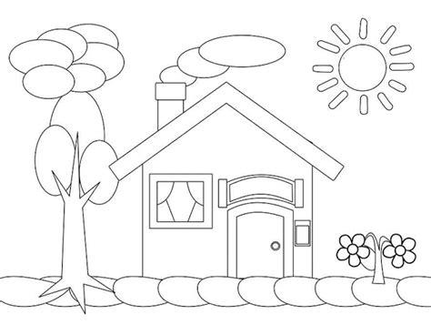 aneka gambar mewarnai mewarnai gambar rumah  anak