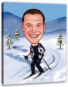 Gutschein Skifahren Vorlage : deine karikatur auf leinwand inkl keilrahmen hier kaufen ~ Markanthonyermac.com Haus und Dekorationen