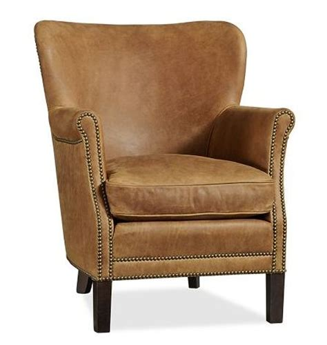 pottery barn leather chair pottery barn leather club chair chairs