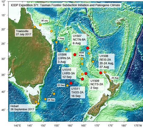 Iodp Jrso • Expeditions • Tasman Frontier Subduction