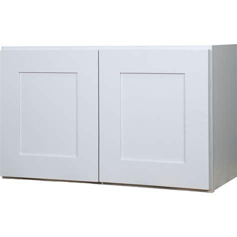 kitchen wall cabinet doors everyday cabinets 36 inch white shaker door bridge 6397
