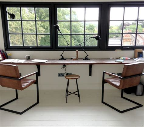 industrial style home office desk industrial style office chairs mad about the house