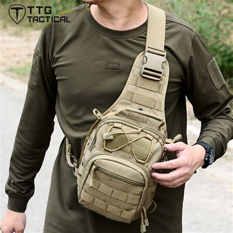 ttgtactical army fan military sling bag multi  combat single shoulder bag molle military