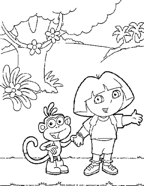 Dora Halloween Coloring Pages, Dora and Boots Halloween