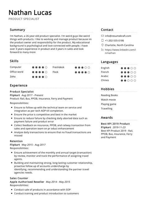 product specialist resume sample resumekraft