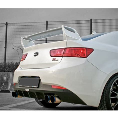 Kia Forte Koup Spoiler by Sequence Rear Trunk Lip Wing Spoiler Unpainted For 2009