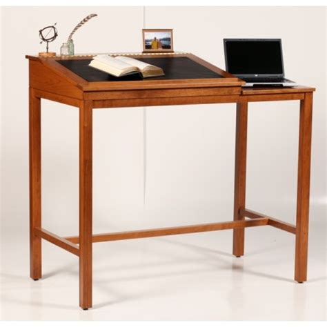wood stand up desk key west standing desk for reading writing