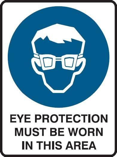 eye protection   worn   area