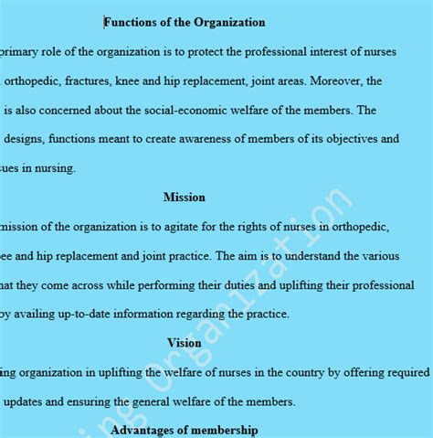 professional organizations or associations assuming that you are the chairperson of membership for