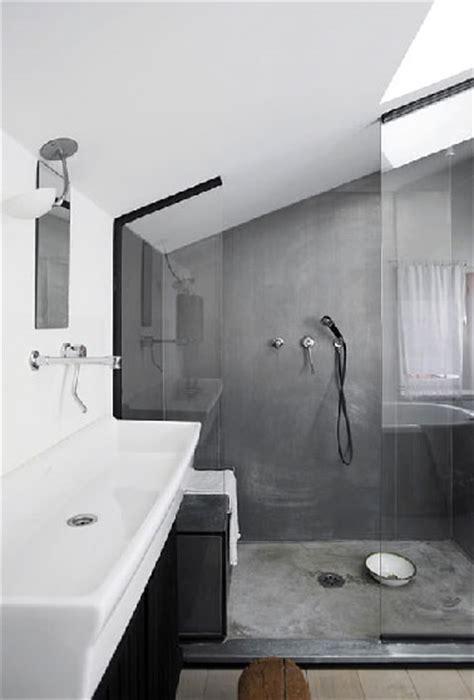 salle de bain sous pente 224 l italienne dans salle de bain grise sous pente