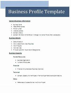 business profile template free business templates With company portfolio template doc