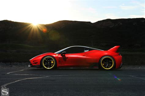 Ferrari claims the driving position is half way between that of a normal sports car and a formula 1 car, with the driver's backside sitting at broadly. 458 Italia - Savini Wheels