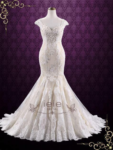 Vintage Lace Mermaid Wedding Dress Miranda Ieie
