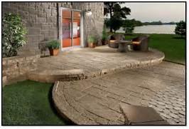 Adding Pavers To Concrete Patio Decorate Using Concrete Paver Patio Ideas Patio Design