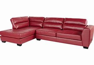 Congress street red 2 pc sectional living room sets red for Uptown red 2 pc sectional sofa