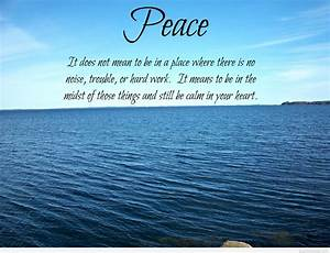 Awesome peace q... Life Love Peace Quotes