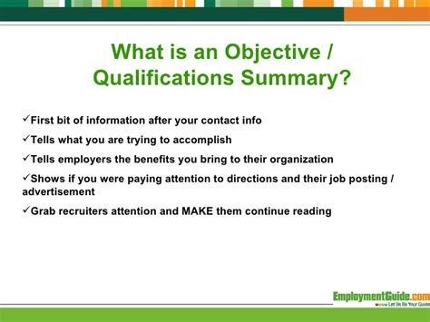 What Is Objective Summary On A Resume by To Create A Resume Objective Statement