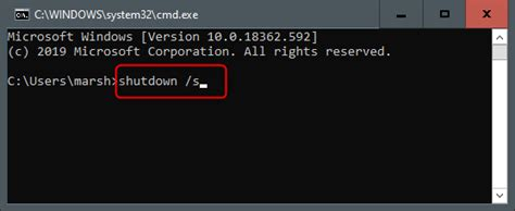 shut   windows  pc  command prompt