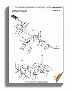 Cub Cadet Parts Manual For Model 1720 Sn 147088 207400