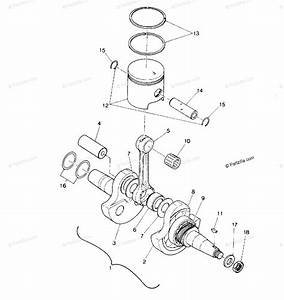 Polaris Atv 1988 Oem Parts Diagram For Crankshaft  U0026 Piston Assembly