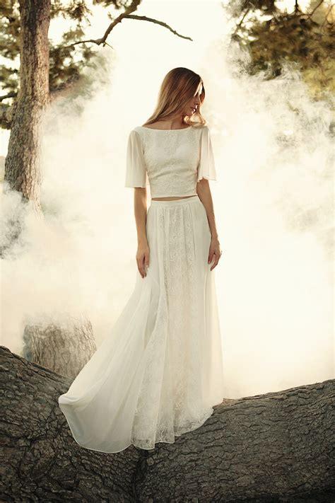 Camelia Boho 2 Piece Wedding Dress Dreamers And Lovers