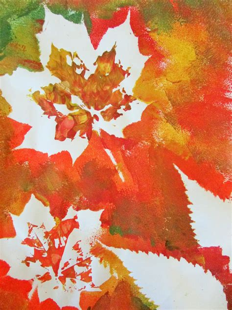 Autumn Leaf Painting  Leaf Paintings, Autumn Colours And