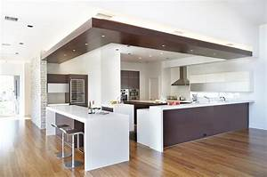 drop-ceiling-lighting-Kitchen-Modern-with-breakfast-bar