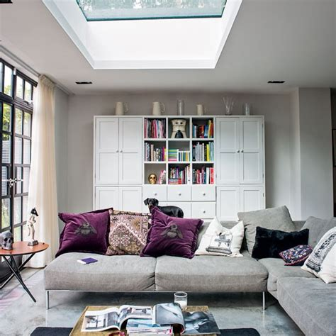 Living Room Shelving Plans by Hardworking Living Space Storage Open Plan Living Room