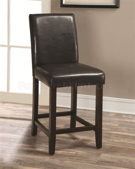 130059 counter height chair set of 4 in dark brown by coaster