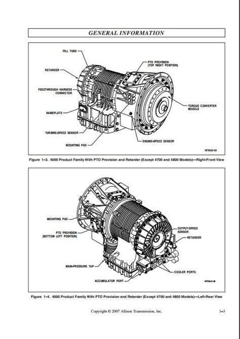 allison transmission  generation controls vocational models service repair manual  repair