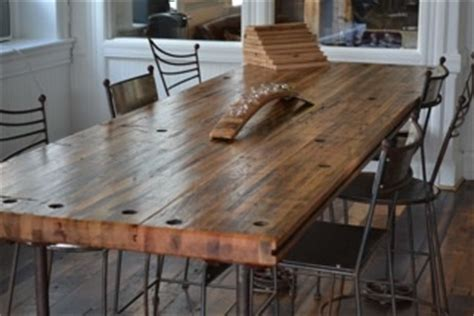rail car flooring  dining tables  pinterest