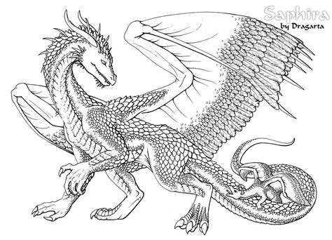Awesome Coloring Pictures Of Dragons
