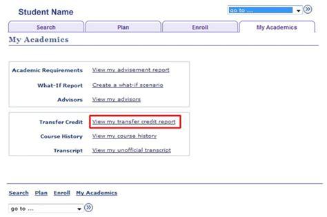 Ndsu Help Desk Contact by Transfer Credit Report One Stop Ndsu