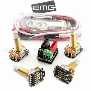New Emg Solderless Wiring Conversion Kit For 1  2 Pickups