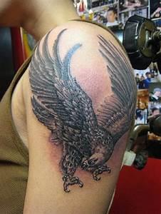 Stunning Left Shoulder Eagle Tattoo