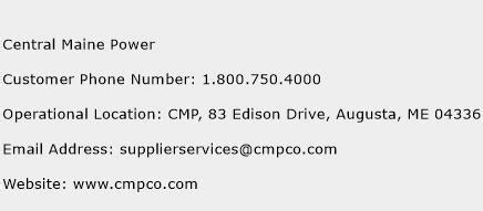 central maine power customer service phone number