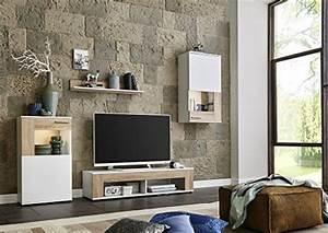 Schrankwand Sonoma Eiche : wohnwand schrankwand wohnzimmerschrank mediawand anbauwand tv element tampa in wei matt ~ Markanthonyermac.com Haus und Dekorationen