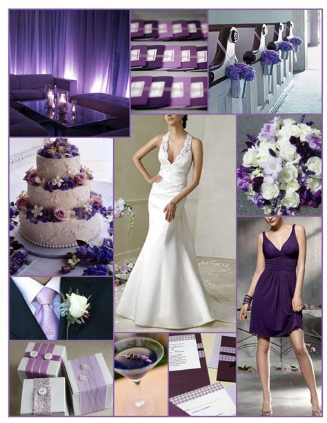 Purple And White Decoration For Wedding by Purple Wedding Theme
