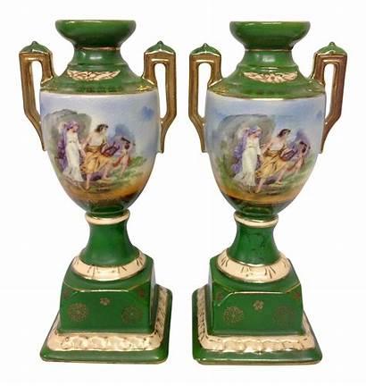 Chairish Erphila Urns Pottery Handled Pair Urn